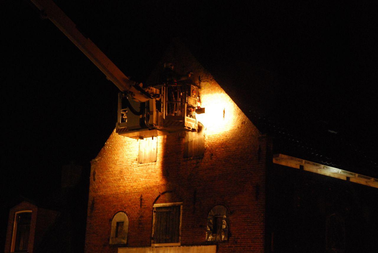 Brand in voormalig pakhuis