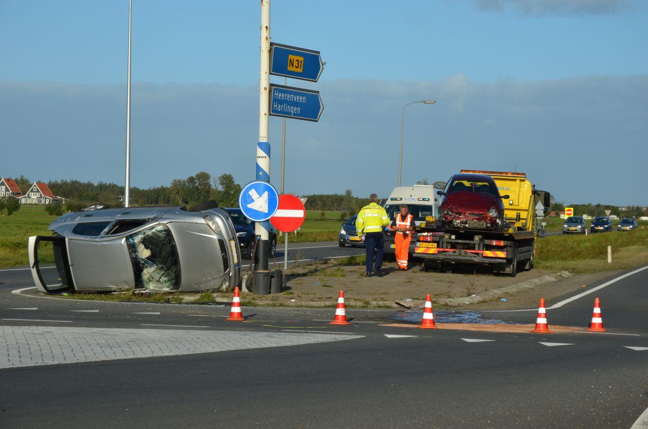 Vier gewonden bij ernstig ongeval