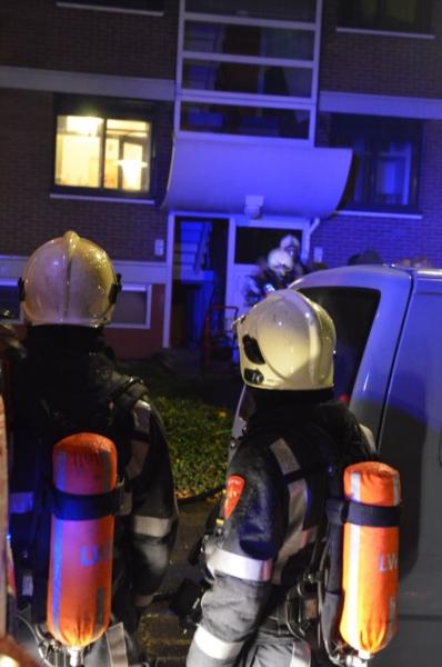 Brand in kelder van flat