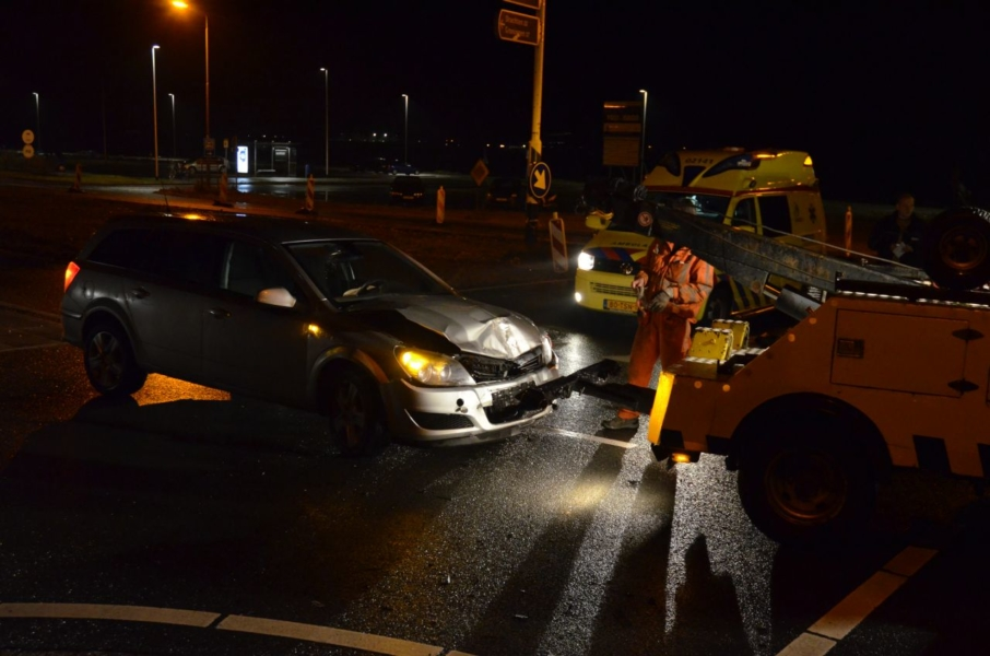 Auto's botsen : Een gewonde