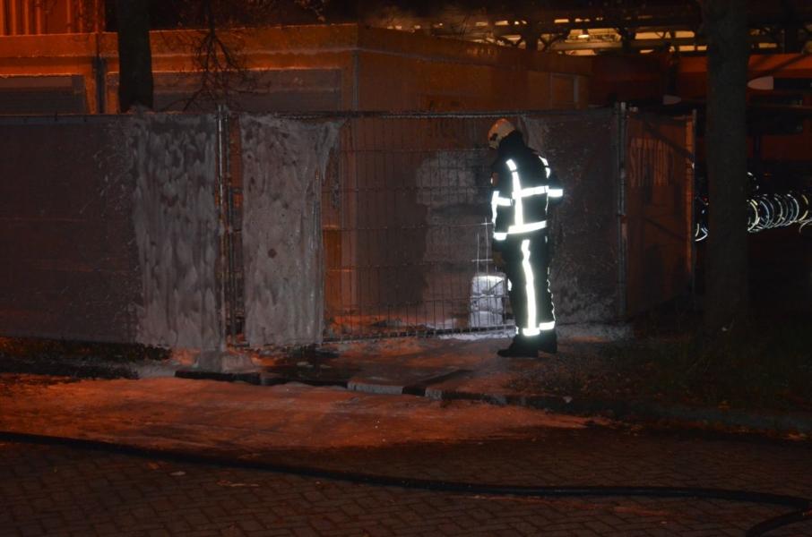Mobiel toilet in brand gestoken