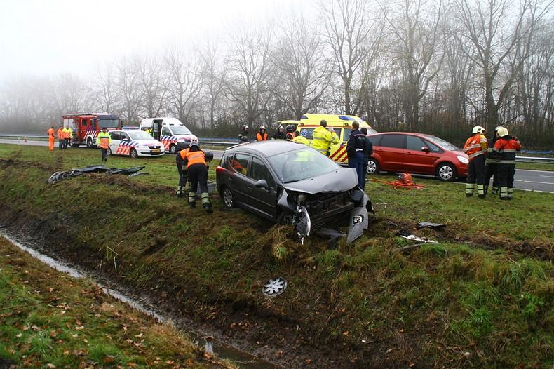 Bestuurder gewond bij ongeval N31