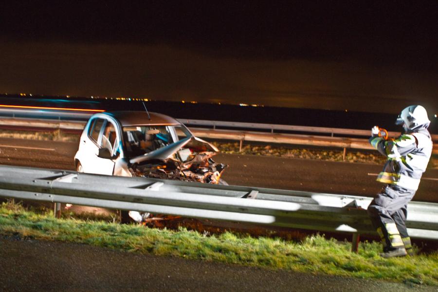 Een gewonde bij ongeval Afsluitdijk