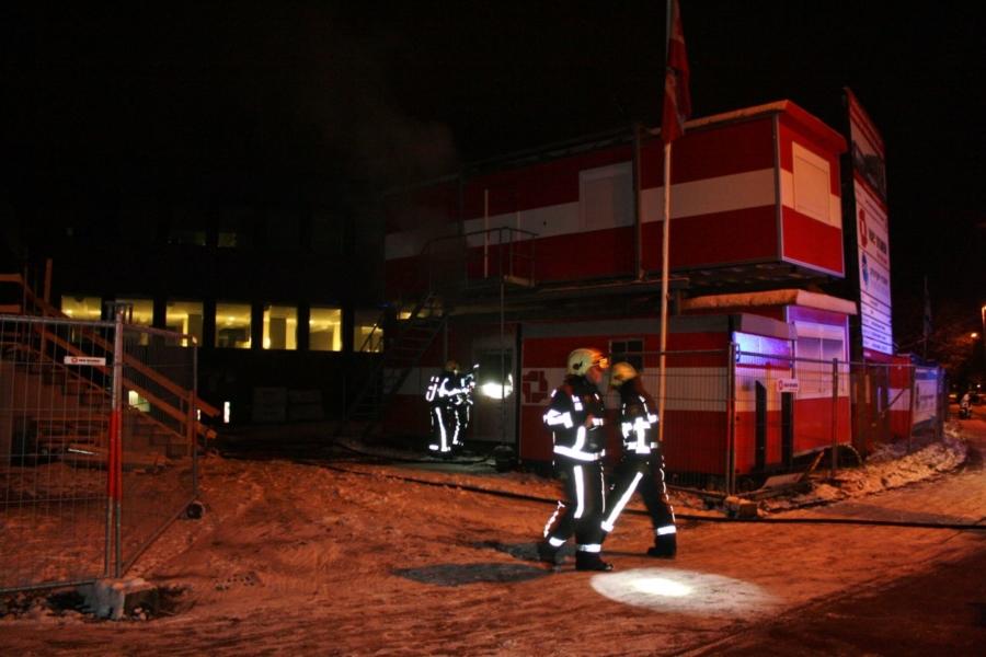 Grote brand in bouwkeet voorkomen