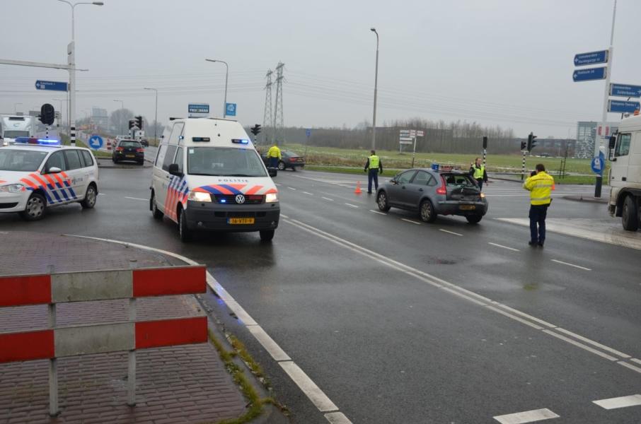 Lesauto aangereden : Een gewonde