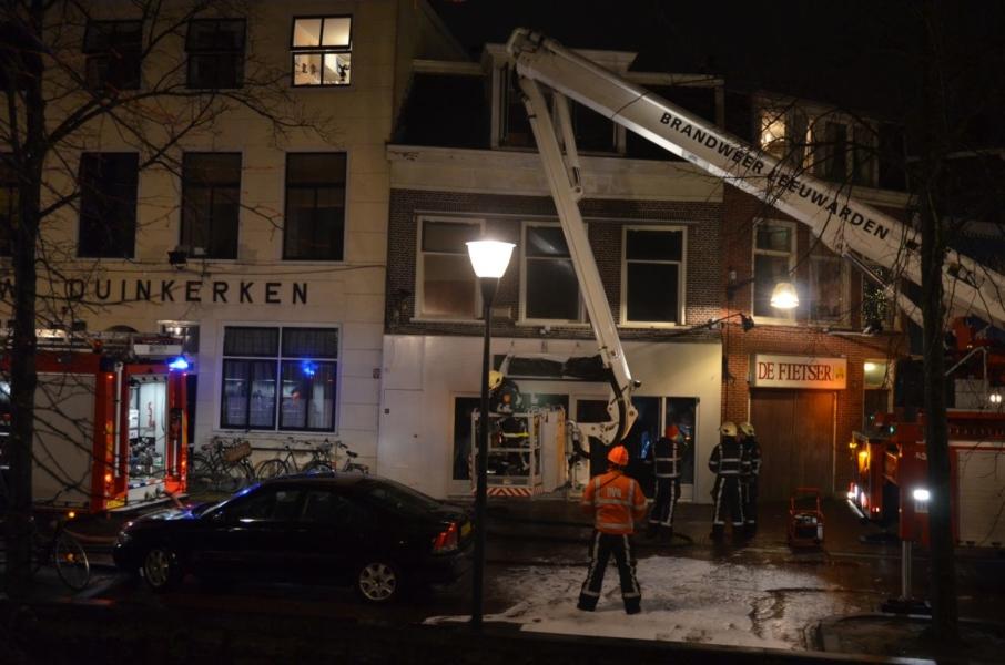 Forse binnenbrand in voormalig cafe Shooters