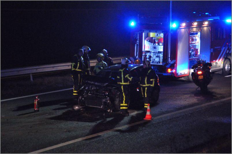 Eenzijdig ongeval op snelweg A32
