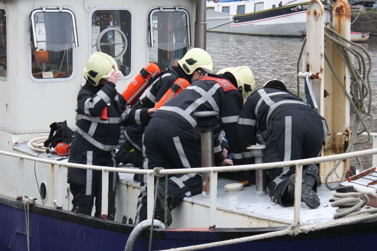 Brandweer uitgerukt voor rookmelder op woonboot