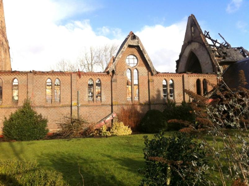 Kerk op Ameland verwoest door brand