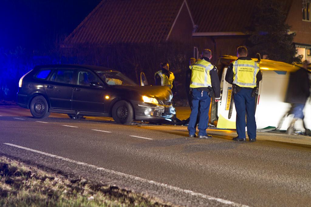 Ongeval twee auto's N393