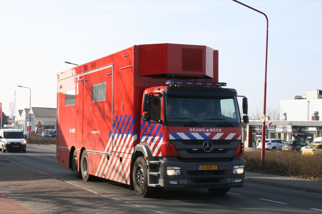 MCU brandweer Amsterdam bezoekt Drachten