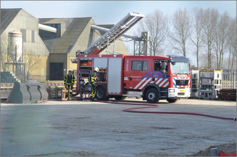 Oververhitte silo zorgt voor brandweerinzet