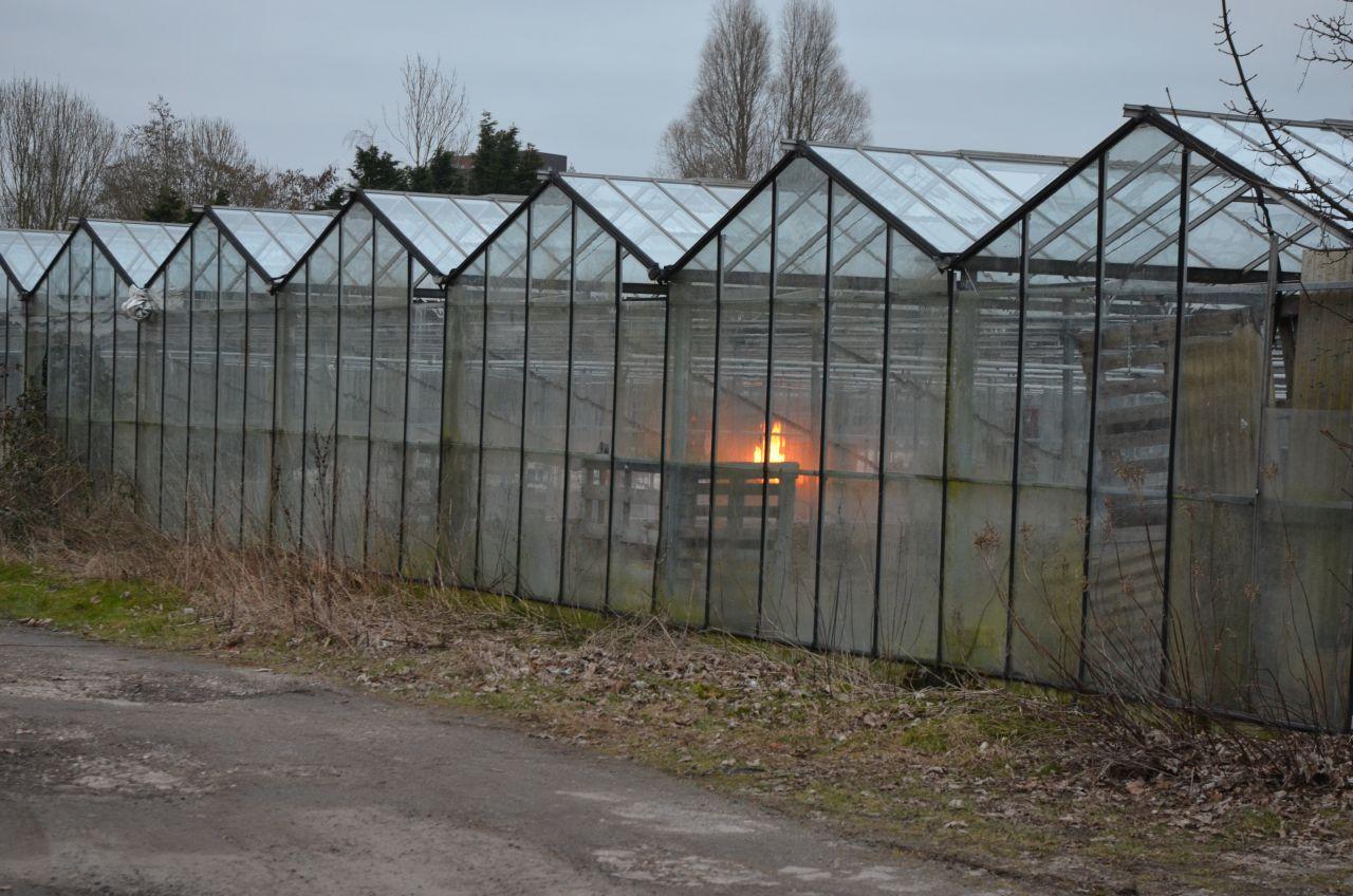 Brandweerinzet voor afvalverbranding