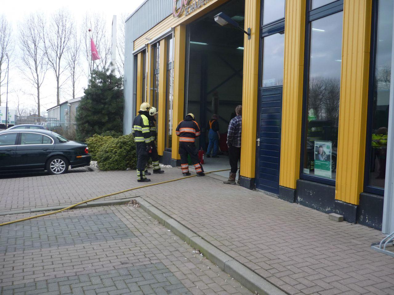 Brand bij schadeherstelbedrijf