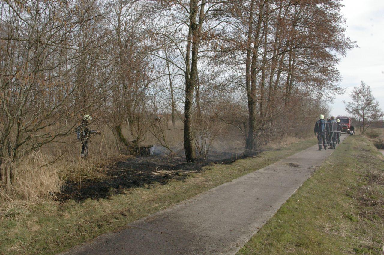 Natuurbrand tijdig geblust