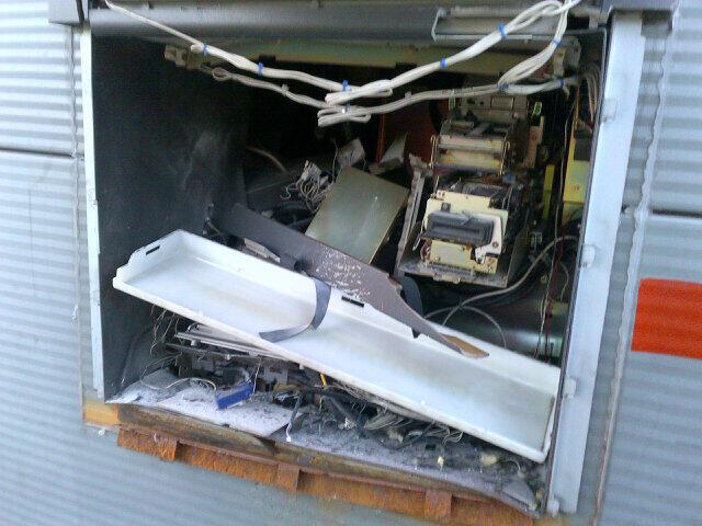 Schade na plofkraak geldautomaat