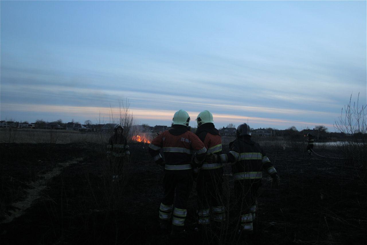Brandweer druk met natuurbranden