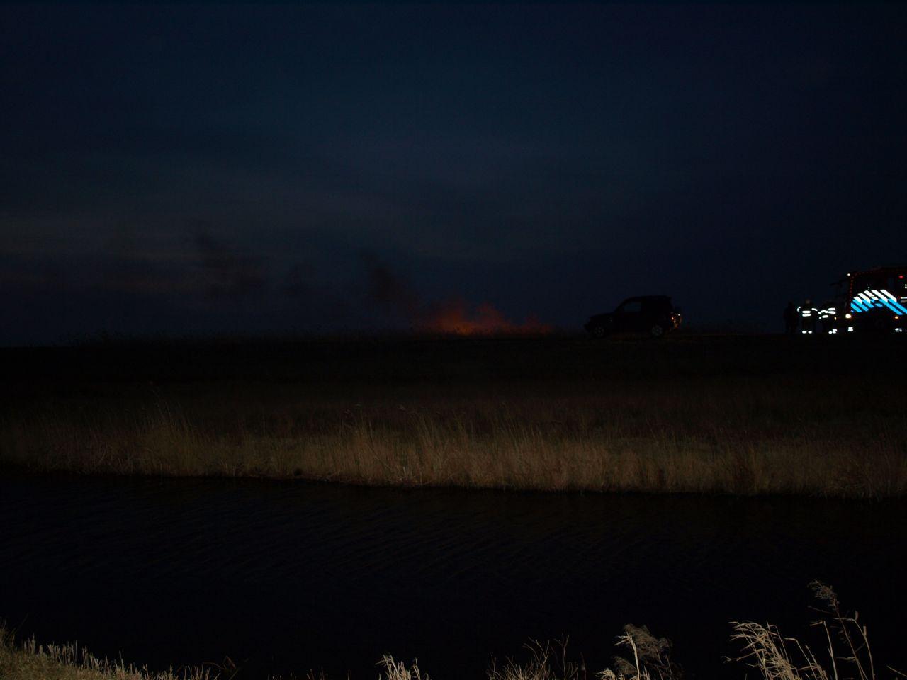 Opnieuw forse rietbrand in de provincie
