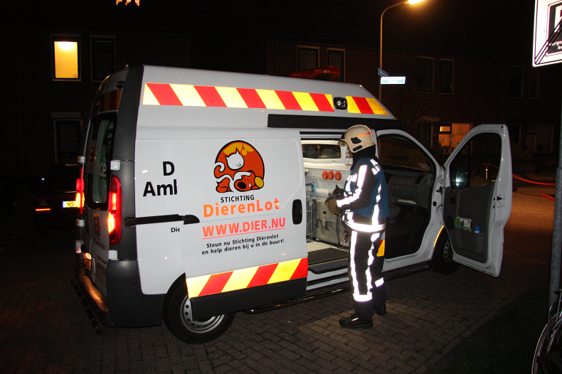 Forse brand in woning