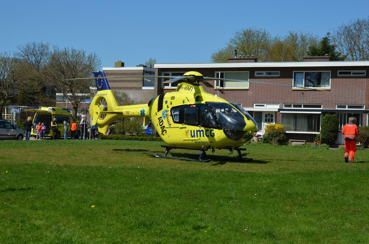 Veel bekijks bij inzet traumahelikopter