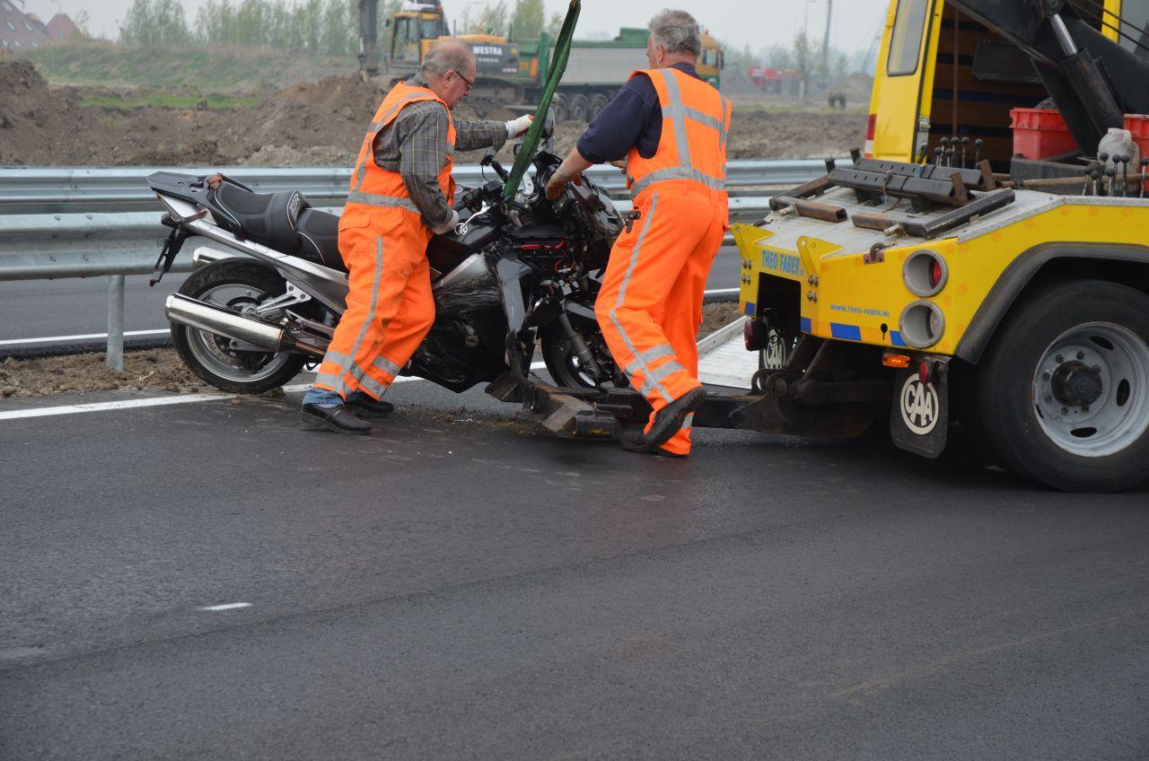 Files na ongeval met motor N31