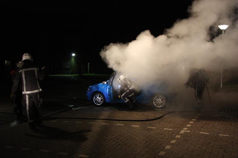 Opnieuw een forse autobrand