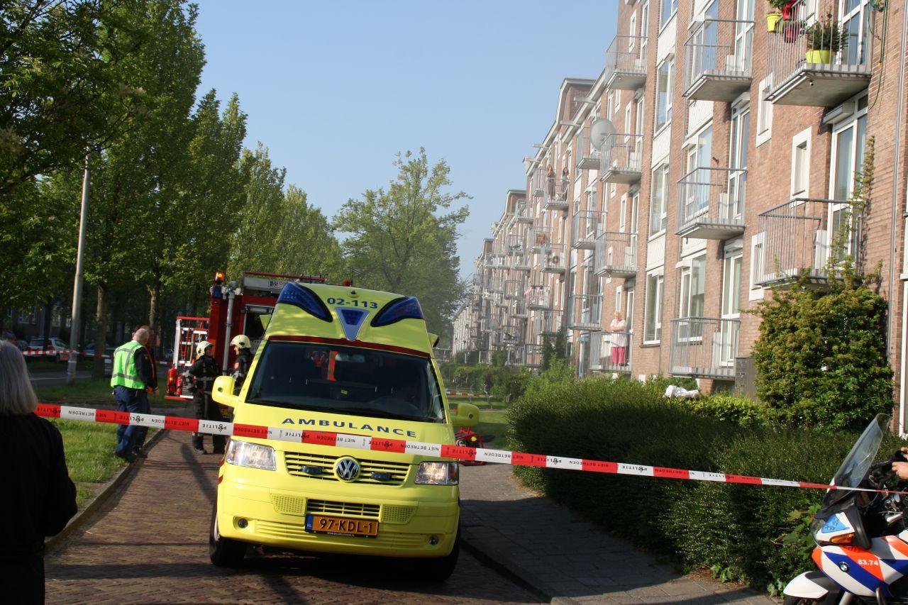 Bewoner gewond na brand in woning