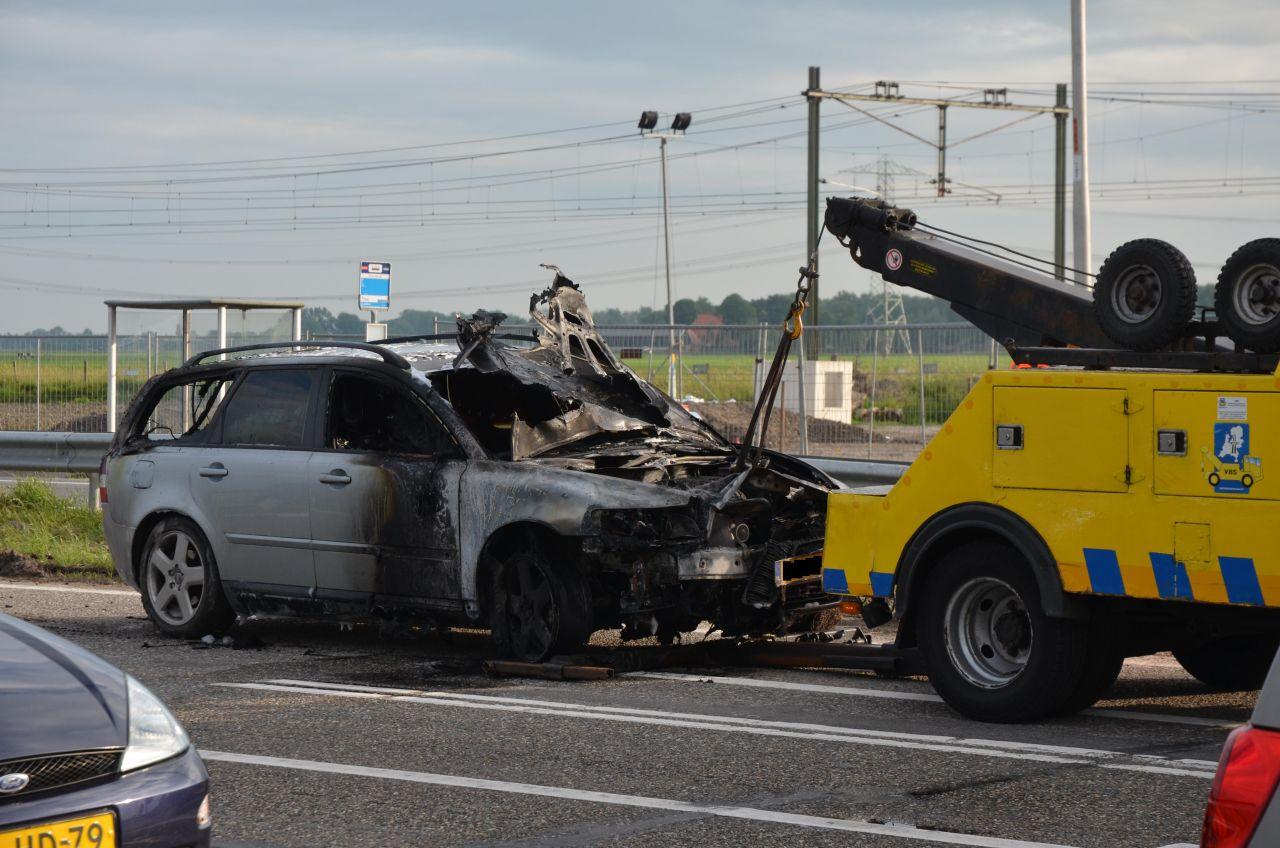 Volvo verwoest door brand A32
