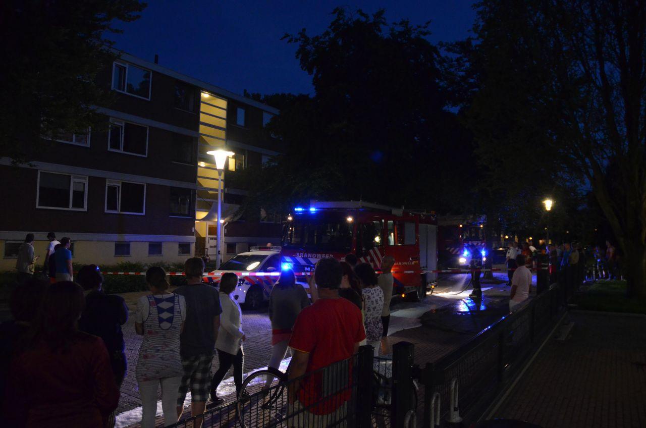 Bewoner gewond na brand Beukenstraat
