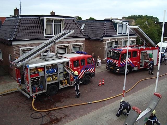 Dakbrand na reparatiewerkzaamheden
