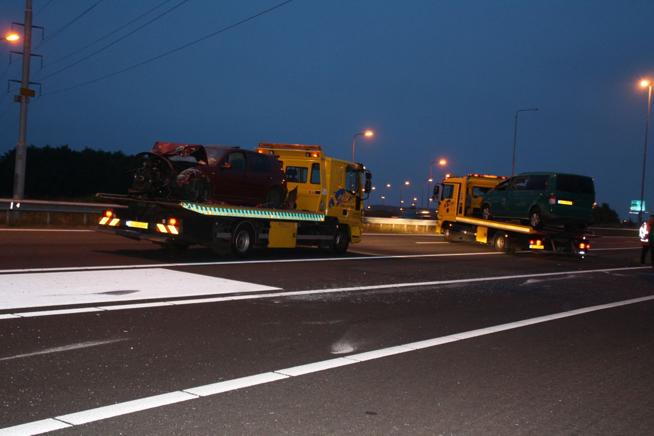 A32 Heerenveen afgesloten door ongeval