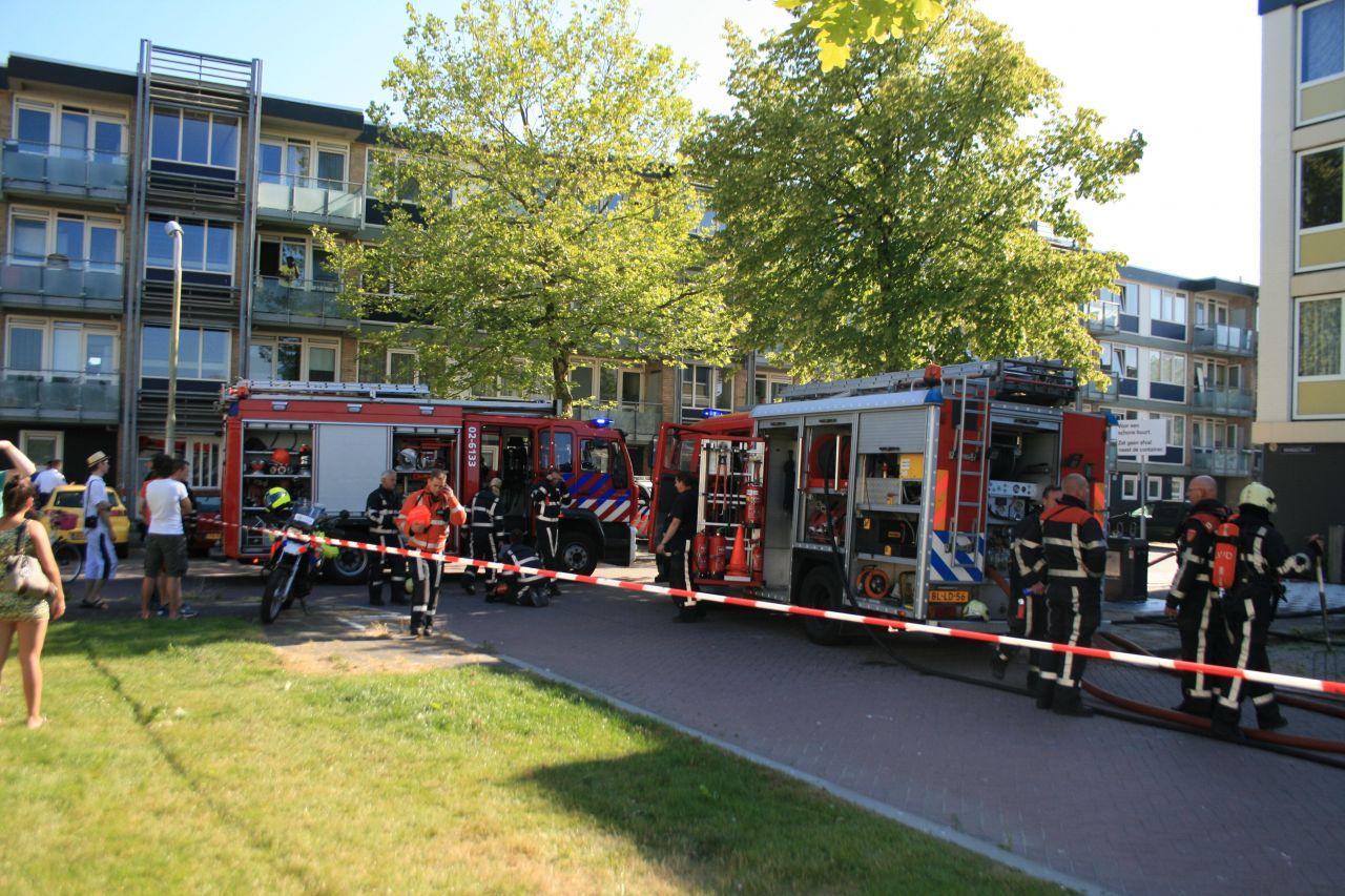 Uitslaande brand in flatwoning