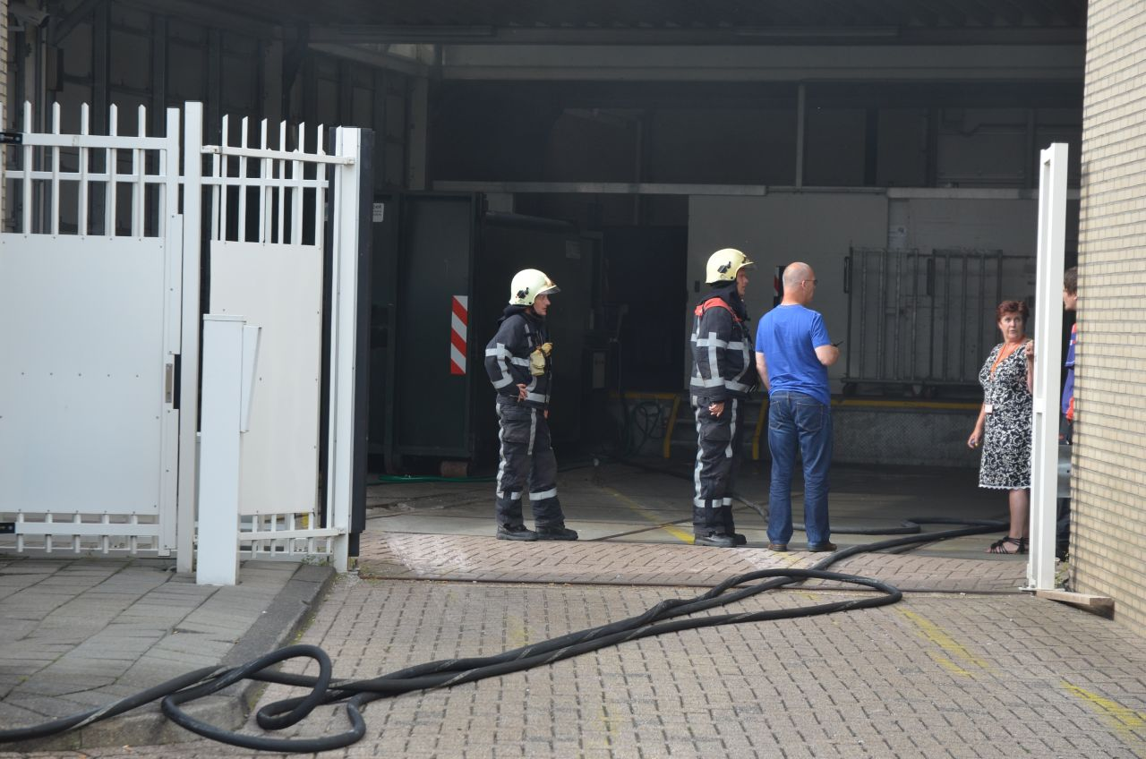Containerbrand bij ING bank