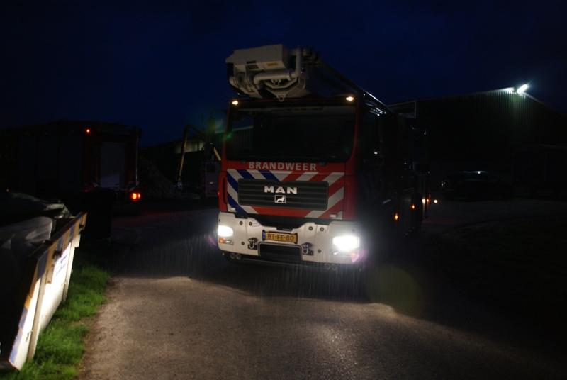 Brandweer uitruk voor afvalverbranding