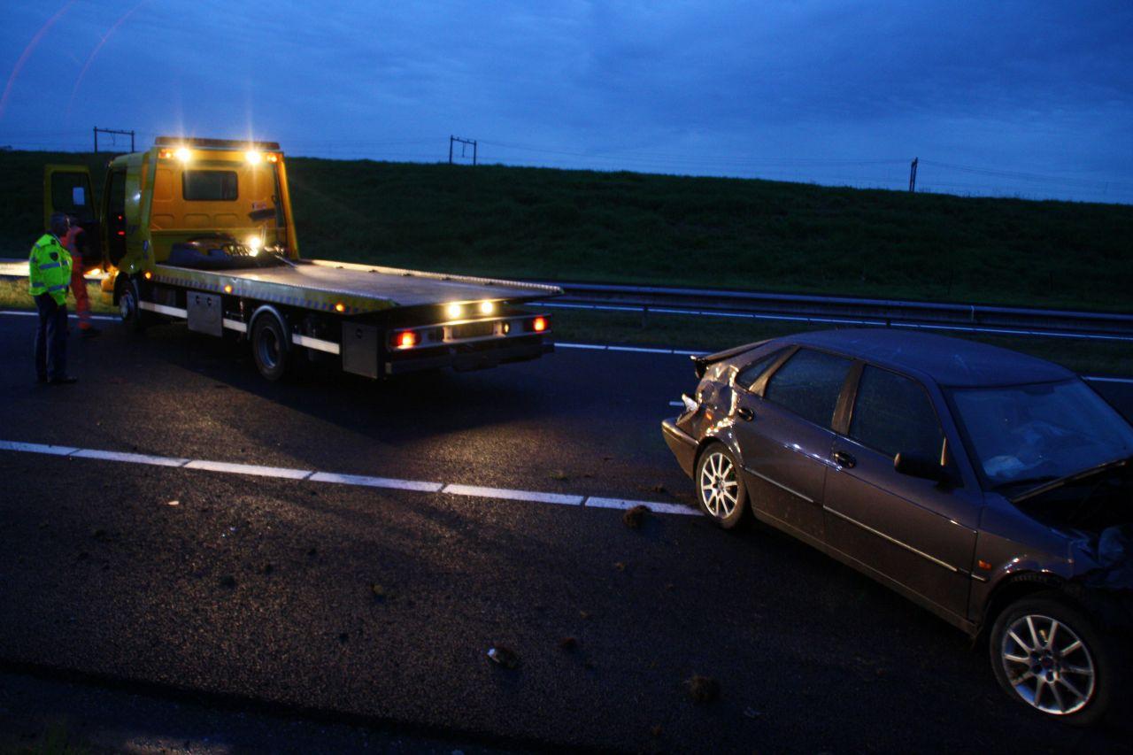 A32 afgesloten na ongeval met alcomobilist