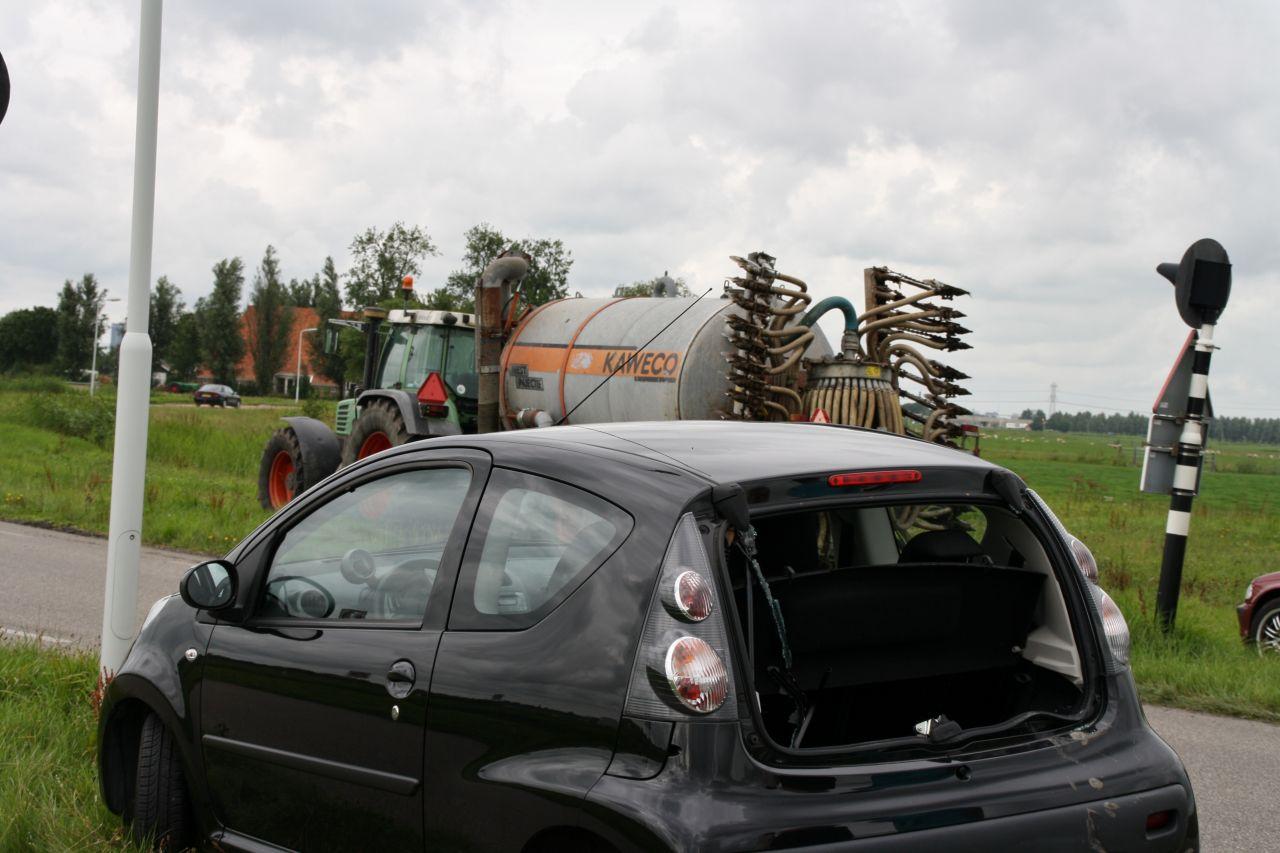 Aanrijding met tractor