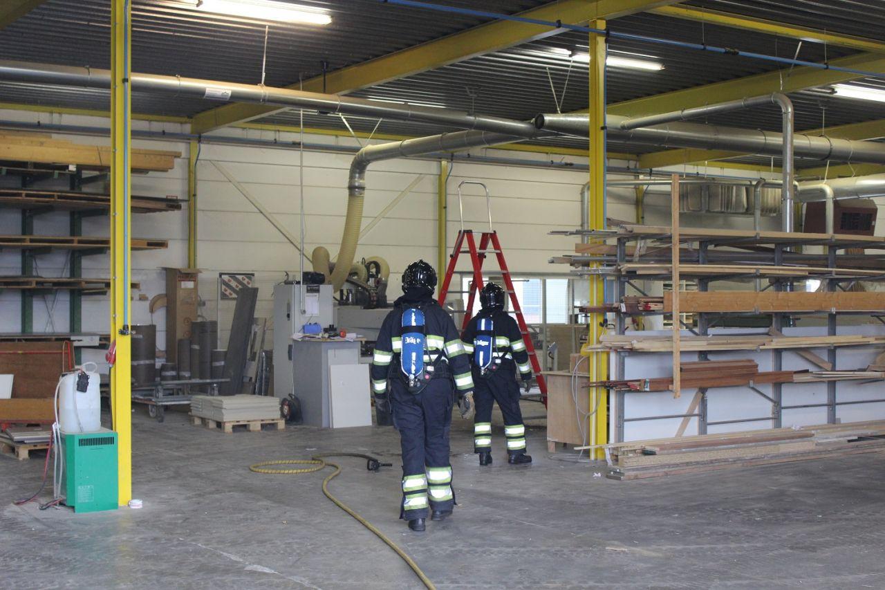 Kleine brand in afzuiginstallatie