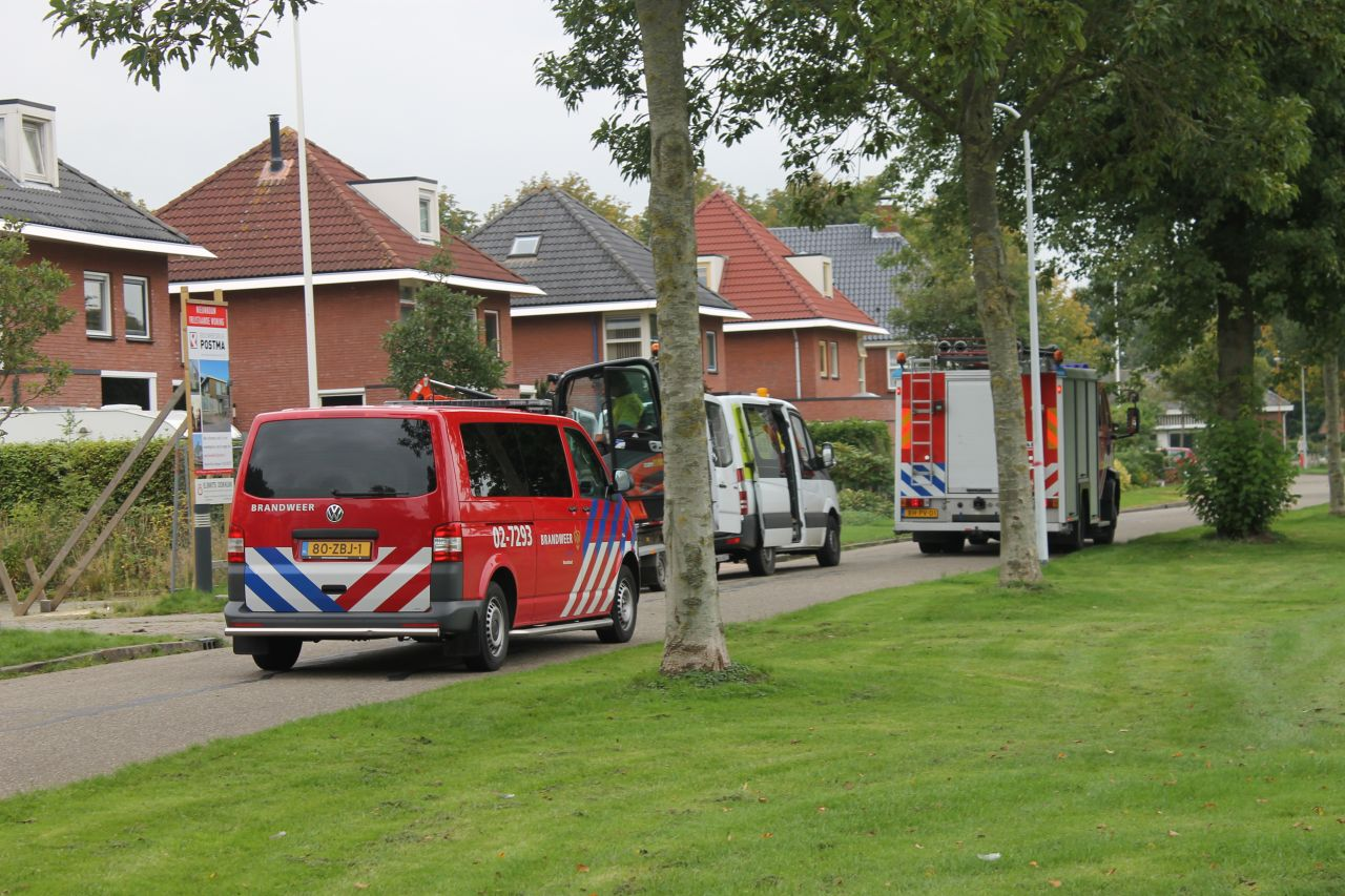 Brandweer rukt uit voor gaslek