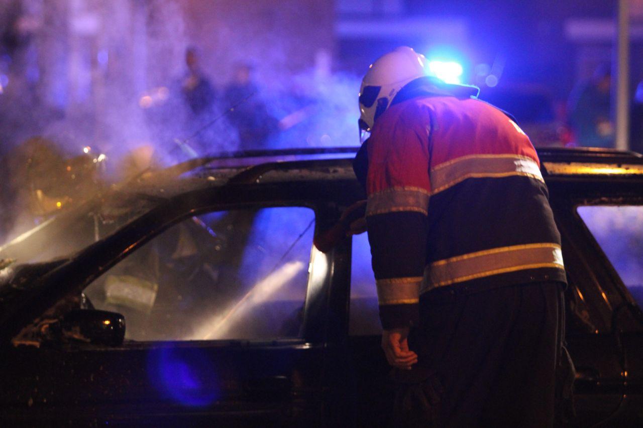 Auto brandt uit