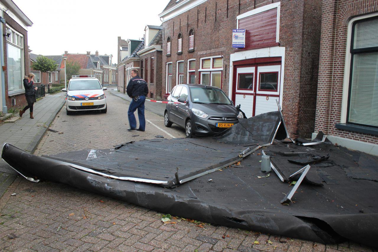 Stormschade midden Friesland