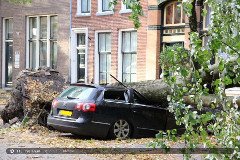 Stormschade Leeuwarden