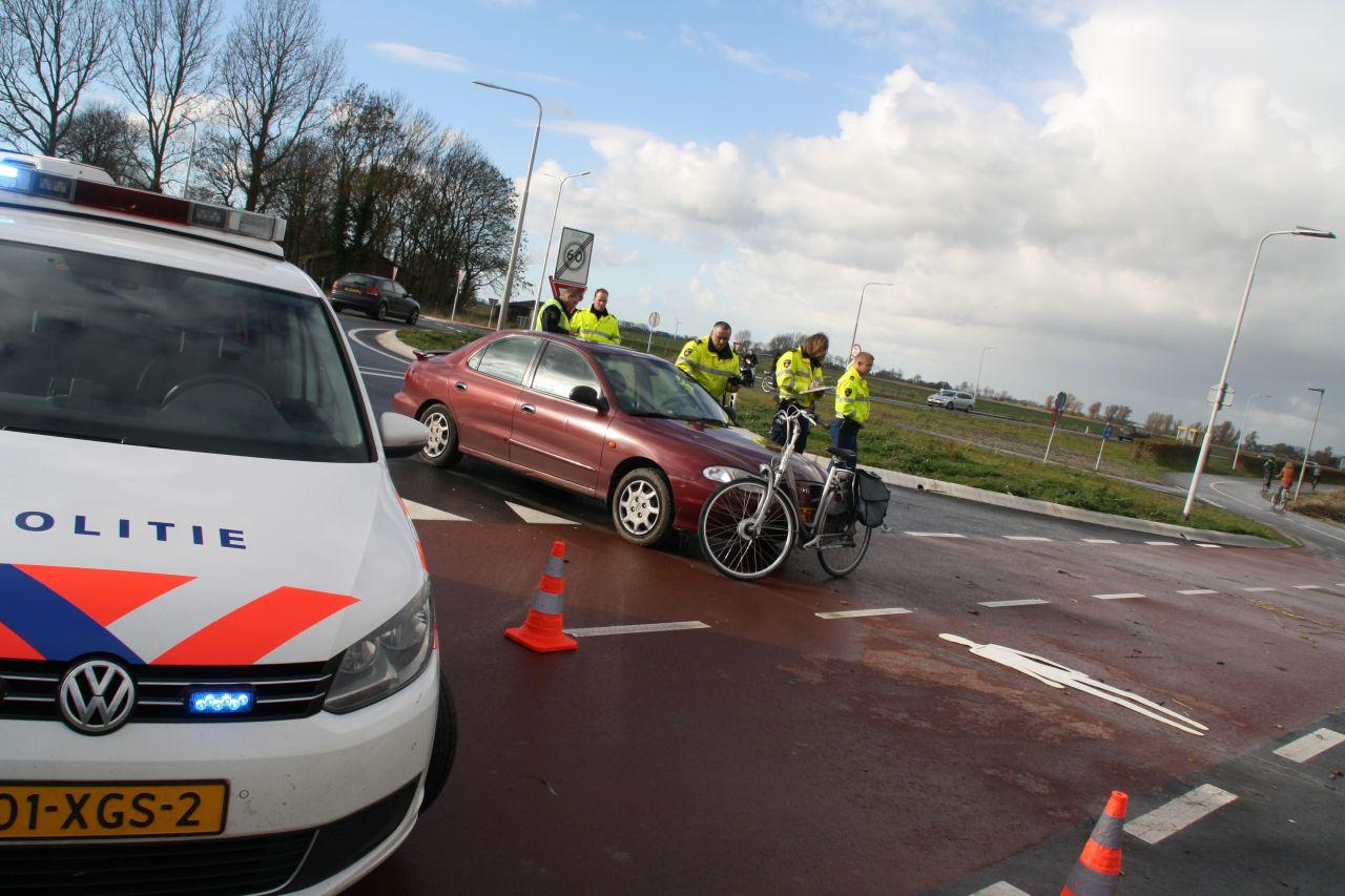 Traumaheli bij aangereden fietsster