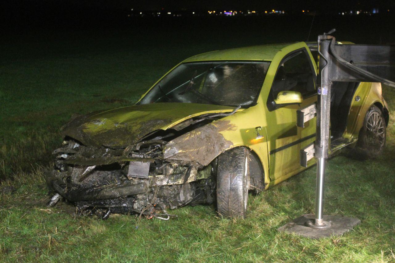 Geen gewonden bij eenzijdig ongeval
