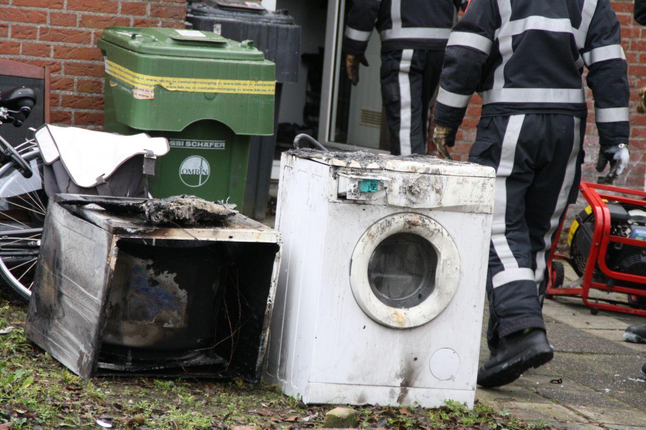 Uitslaande brand door wasdroger