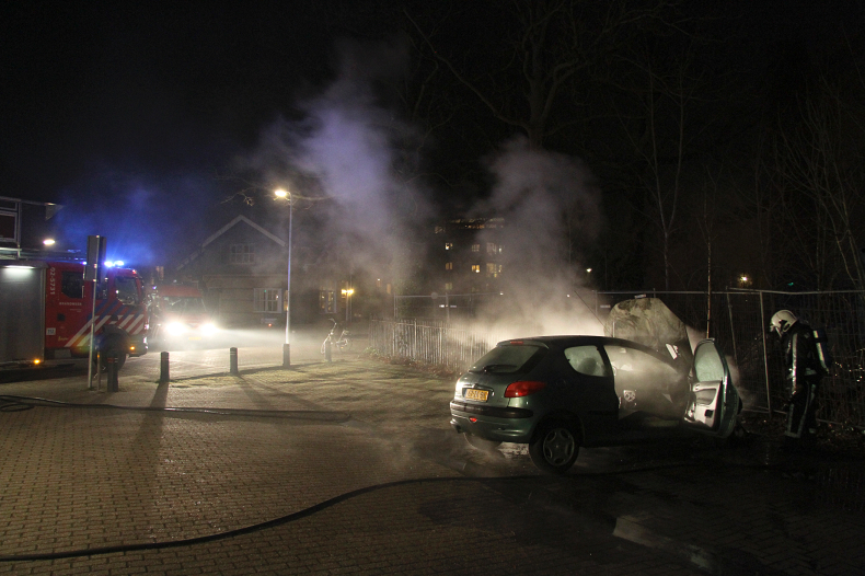 Motorcompartiment in brand