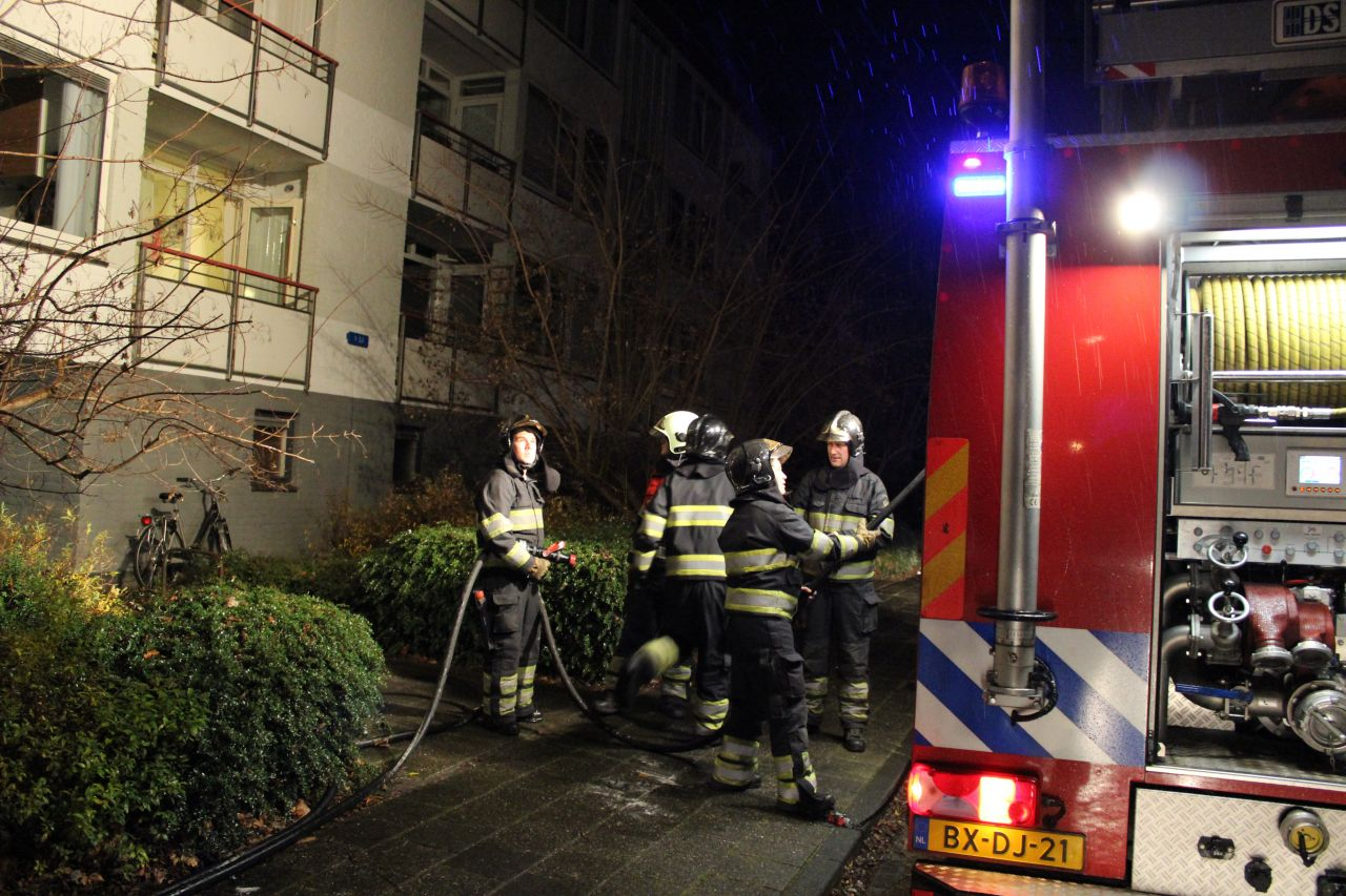 Trappenhuis vol rook na brand