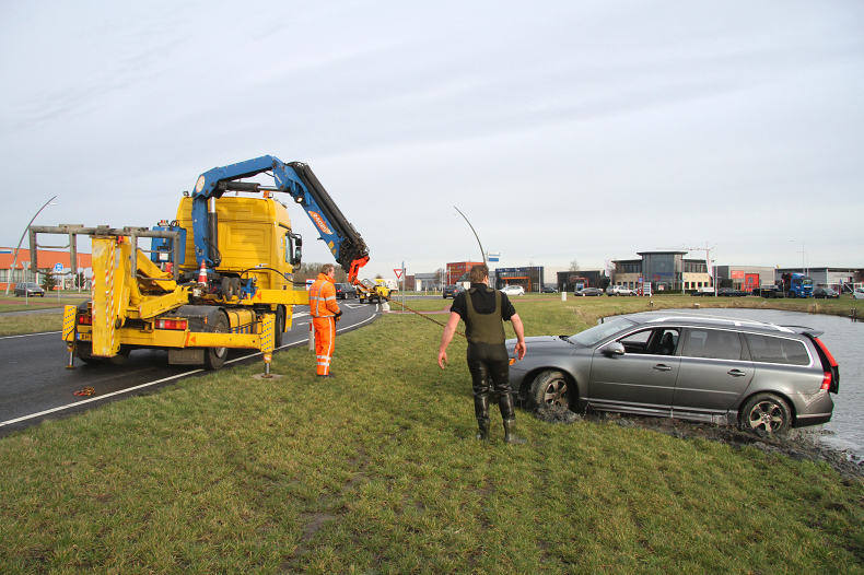 Volvo V70 raakt te water