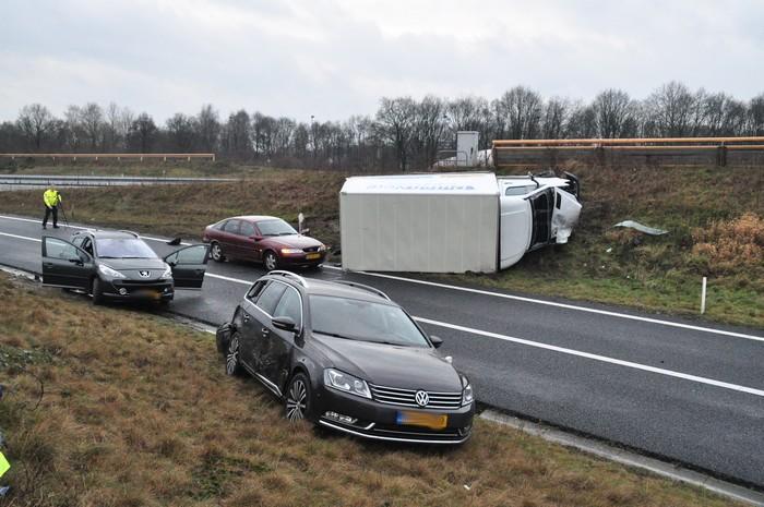 Meerdere gewonden bij ongeval op afrit