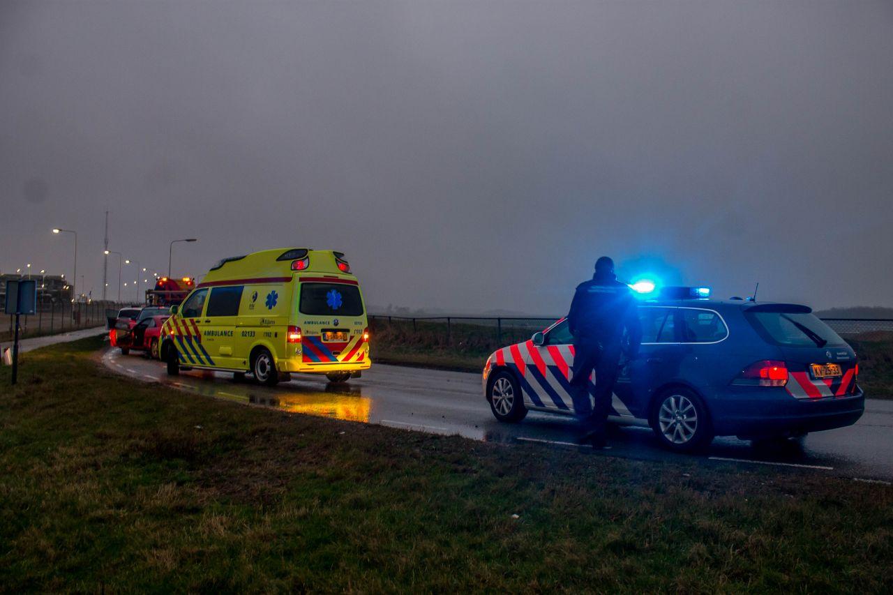 Bestuurder naar ziekenhuis na ongeval