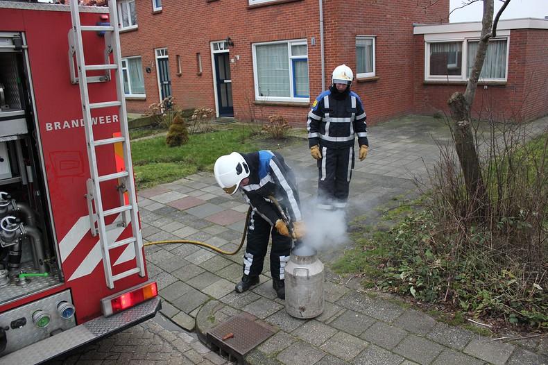 Brandweer op de been voor smeulende melkbus